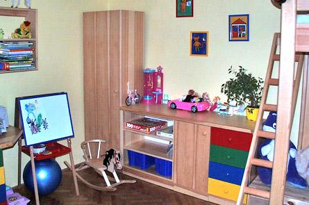 Skříňky v dětském pokoji
