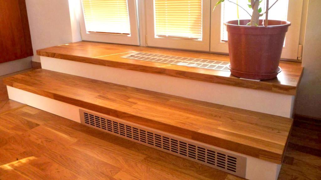 Obložení schodů - topení