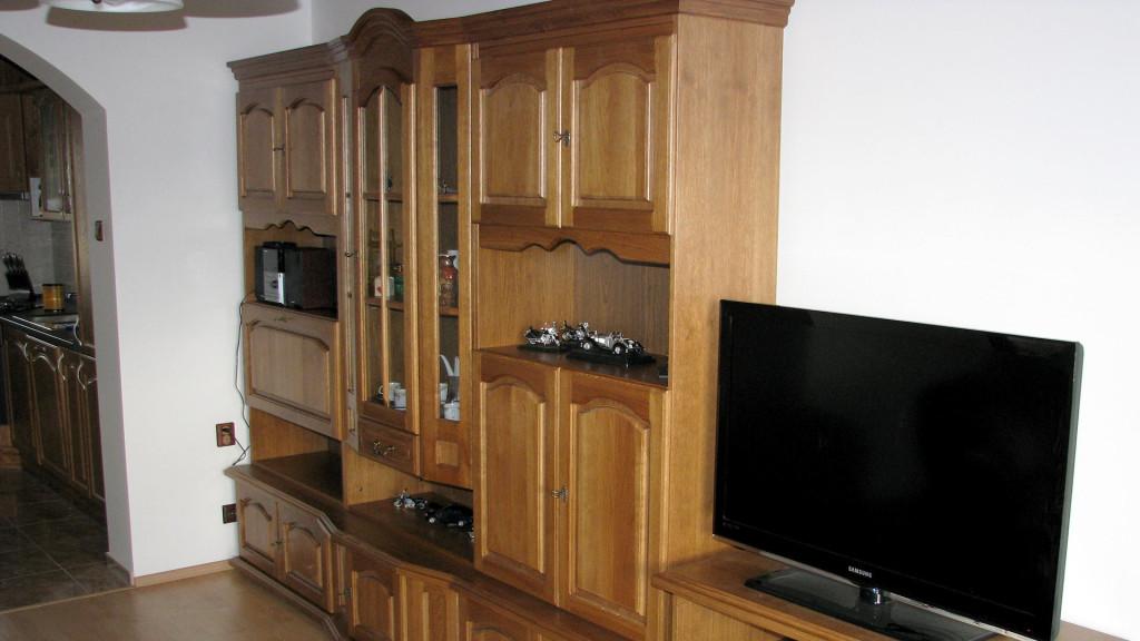 Rustikální obývací stěna