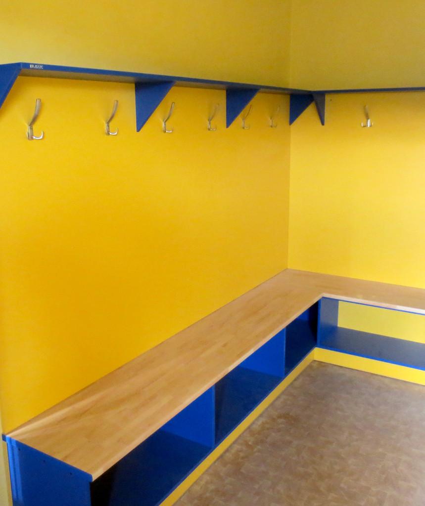 Šatna do kabin fotbalistů v barvách klubu